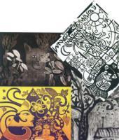 Salah Satu Karya Pameran Seni Grafis 'Pada Sentuhan Tangan'