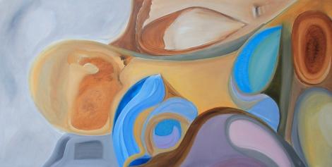 suara sunyi 70 x 140. 2013. acrylic on canvas