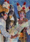 Kolcai_Moel Yoto, Opera Tradisional Bali, 56x76 cm