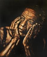 Grandfather, woodcut, 60x40 cm, 2016