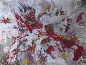 I Putu Madu Sedana, Bhatara Kala Kroda, 2018, 160x120 cm, Cat Akrilik di Kanvas