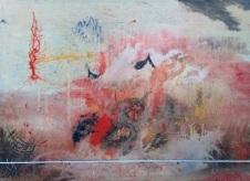 Dosra Putra Mencari Dimana 135 x 100 cm Acrylic on canvas 2017